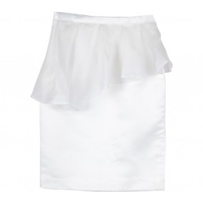Rouse White Tulip Mini  Skirt