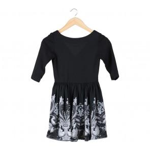 Black And Grey Low Back Mini Dress