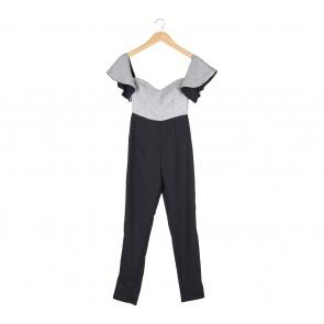Black And White Off Shoulder Jumpsuit