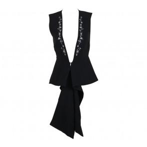 Clementine Black Floral Tied Vest