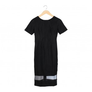 Peapod Shop Black Midi Dress