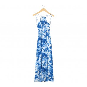 Swan by VGY Blue And White Floral Long Dress