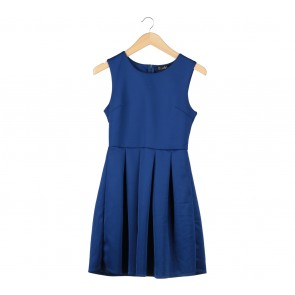 Blue Sleeveless Midi Dress