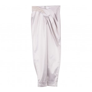 Thea by Thara Cream Metallic Pants