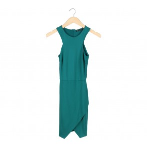 Zara Green Sleeveless Mini Dress