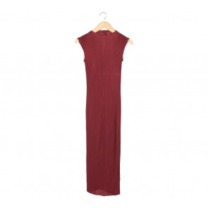 Maroon Sleeveless Long Dress