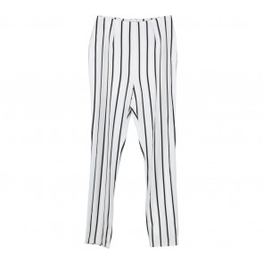 Off White And Black Striped Pants