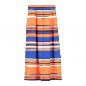 Orange And Blue Striped Skirt