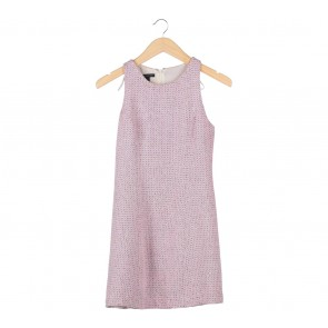 Mango Pink And Cream Sleeveless Mini Dress