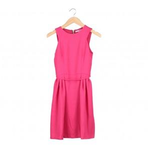 Pink Sleeveless Midi Dress