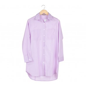 TLCShop Purple Shirt Mini Dress