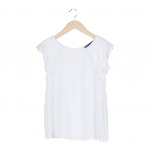 Zara White Wing Blouse