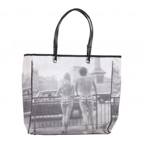 Anya Hindmarch Grey Britain Detail  Canvas  Handbag