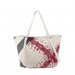 Burberry Multi Colour Confetti Hearts Tote Bag