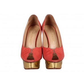 Charlotte Olympia Peach Heels