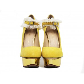 Charlotte Olympia Yellow Heels