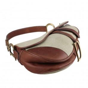 Christian Dior Green Diorissimo Saddle Shoulder Bag