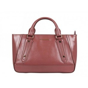 Burberry Pink Coated Leather Tote Bag
