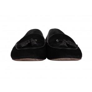Gianvito Rossi Black Ponyhair Tassel Loafers