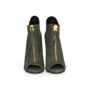 Giuseppe Zanotti Green Zip Detail Boots