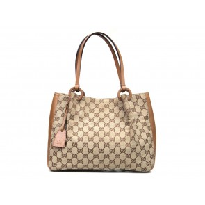 Gucci Brown Monogram Tote Bag