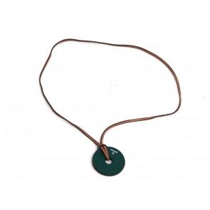 Hermes Dark Green Reversible Pendant Necklace Jewellery