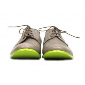 Jil Sander Light Brown Neon Soles Oxford Shoes