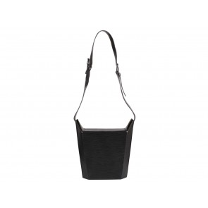 Louis Vuitton Black Structured Epi Leather Sling Bag