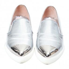 Miu Miu Silver Sneakers