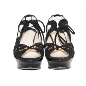 Peter Pilotto X Nicholas Kirkwood Black Sandals