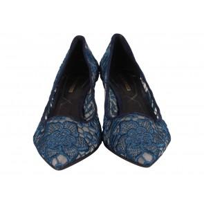 Peter Pilotto X Nicholas Kirkwood Dark Blue Heels