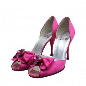 Stuart Weitzman Fuchsia Satin Shoes