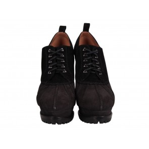 Alaia Black Suede Lace Up Booties
