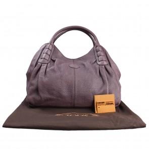 Tod´s Purple Ivy Sacca Media Shoulder Bag