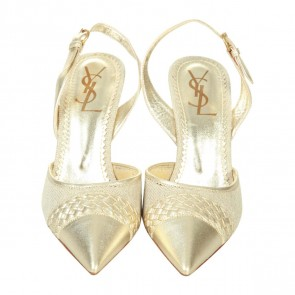 Yves Saint Laurent Gold Heels