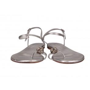 Alexander McQueen Silver Sandals