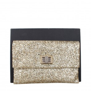Anya Hindmarch Gold Valorie Glitter Clutch
