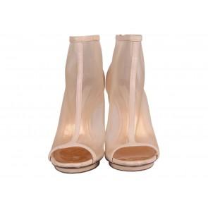 BCBG Maxazria Nude Gamma Open Toe Boots