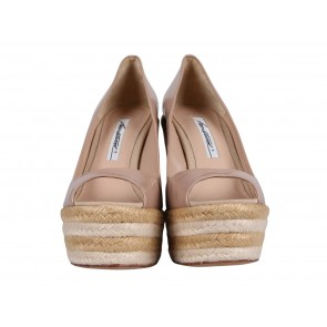 Brian Atwood Nude Wedges