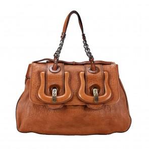 Fendi Medium Spy Bag Zucca Lambskin in Brown