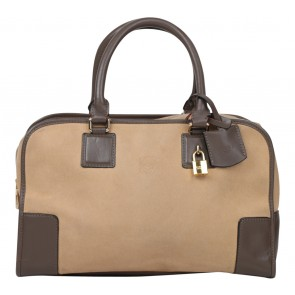 Loewe Brown And Cream Handbag