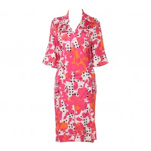 Diane Von Furstenberg Pink Wrap Midi Dress