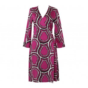 Diane Von Furstenberg Purple Wrap Mini Dress