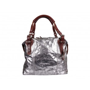 Pauric Sweeney Silver Leather Shoulder Bag
