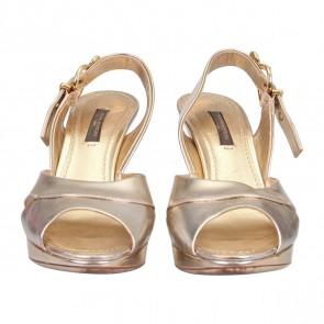 Louis Vuitton Gold Sandals