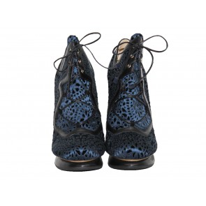 Peter Pilotto x Nicholas Kirkwood Blue Lace Booties