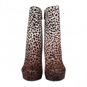 Gucci Brown Giraffe Print Boots