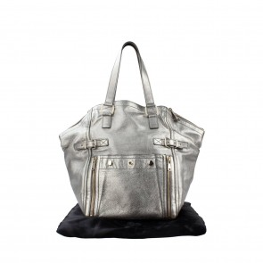 Saint Laurent Silver Shoulder Bag