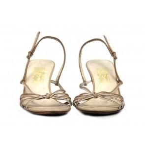 Salvatore Ferragamo Cream Sandals