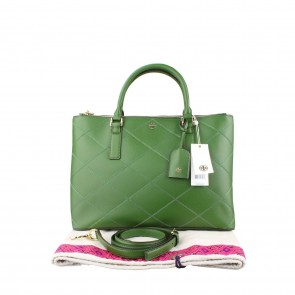 Tory Burch Green Tote Bag